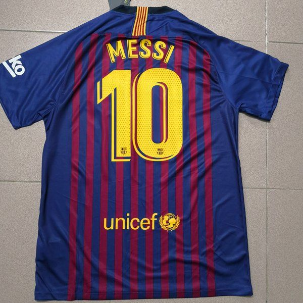 5d2b79756 FC Barcelona Messi 2018 2019 Home Kit Soccer Jersey New with Tags ...