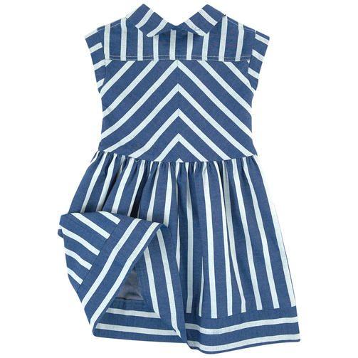 Deux par Deux - Striped chambray dress - 172664