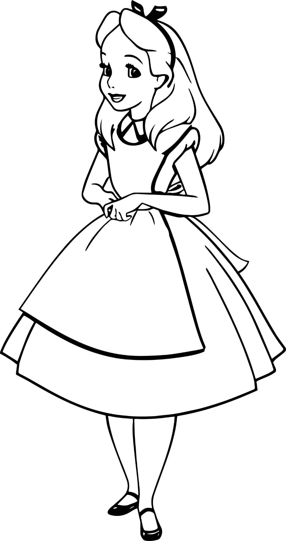 Раскраска Алиса В Стране Чудес для детей распечатать ...