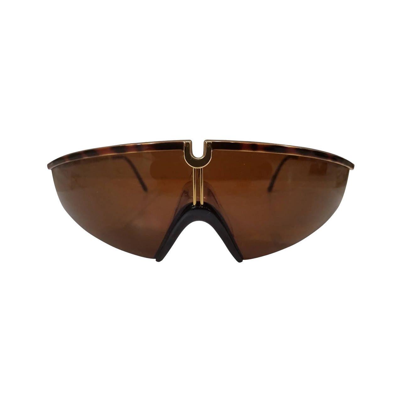 55c7e12db0a5c 1980s Gianni Versace Brown tortoise sunglasses