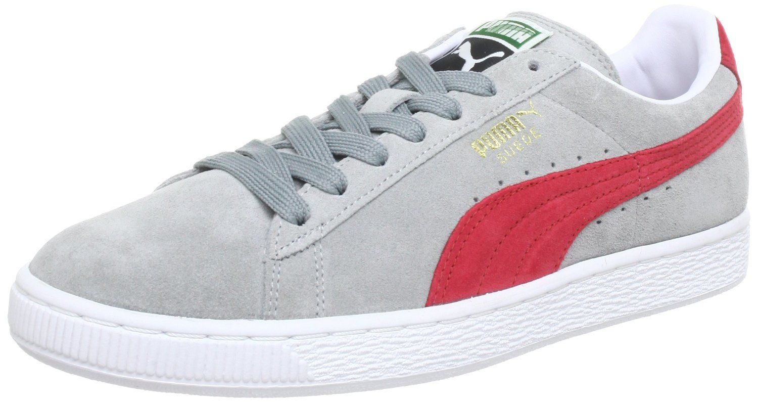 Puma Suede Classic Eco Limestone Grey Red  Amazon.co.uk  Shoes   Bags. Find  this Pin and more on men s ... 5f00f393fe0