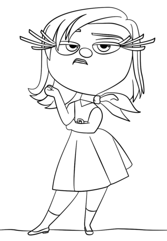 Inside Out Disgust Coloring Page From Inside Out Category Select From 24992 Printable C Inside Out Coloring Pages Cartoon Coloring Pages Disney Coloring Pages