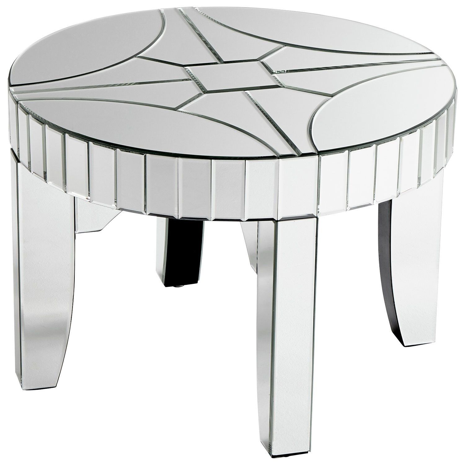 Cyan Design 08599 Rennay Side Table In Clear Glass Side Tables Cyan Design Mirrored Glass