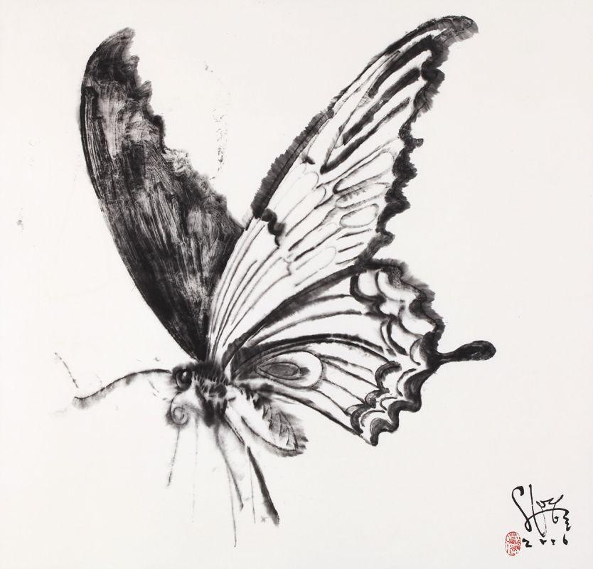 Butterfly Drawings | Liquid Drawing : Shin Young Ho