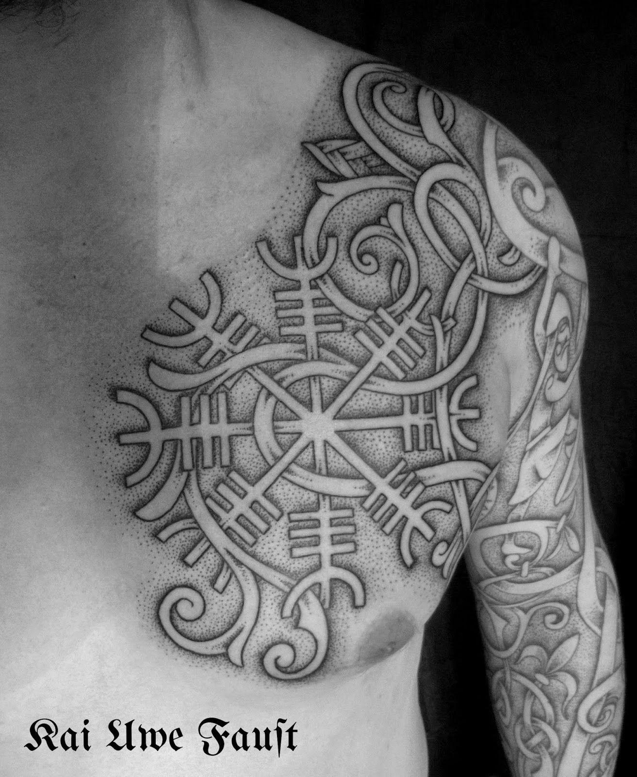 Nordic Tattoo Aegishjalmur Tattoo Body Art Nordic Tattoo