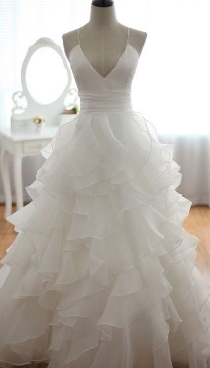 3cdb0fe644 Beautiful white ruffle wedding dress | Top Wedding Registry Stores ...