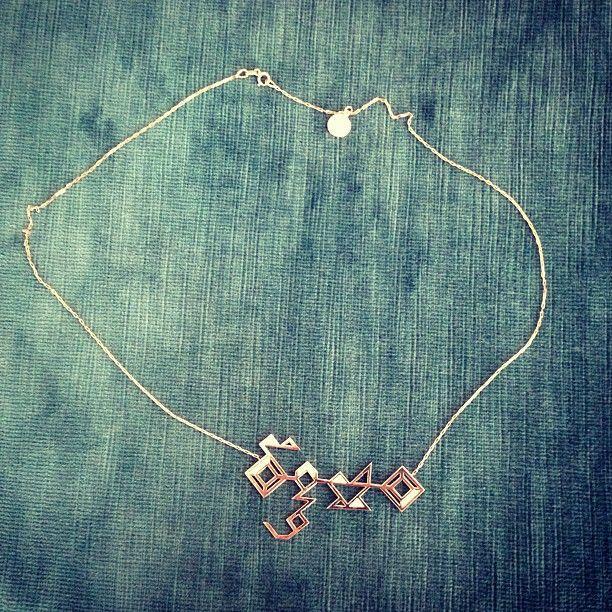 "Mira Duma: ""love my Mira necklace in Arabic calligraphy designed by my lovely ... -  Mira Duma: ""love my Mira necklace in Arabic calligraphy designed by my lovely Shamsa Allabar @Ala - #Arabic #calligraphy #designed #duma #love #Lovely #Mira #MiraDuma #MiroslavaDuma #necklace #RedCarpetDresses #RedCarpetLooks"