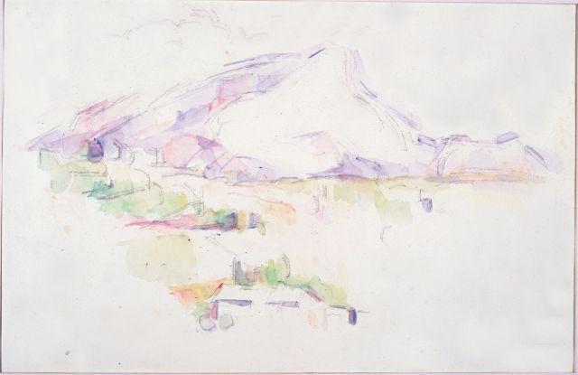 La Montagne Sainte Victoire Aquarelle De Cezanne Aquarelle