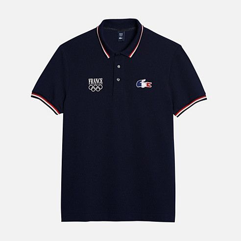 polo lacoste officiel de l 39 quipe de france olympique sochi 2014 tennis french team. Black Bedroom Furniture Sets. Home Design Ideas