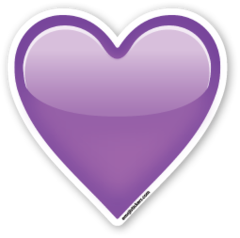 Purple Heart | Emoji Stickers