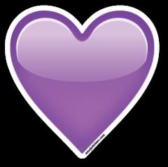 Purple Heart Emojistickers Com Imagenes De Emojis Emoji De Corazon Emoticones De Whatsapp