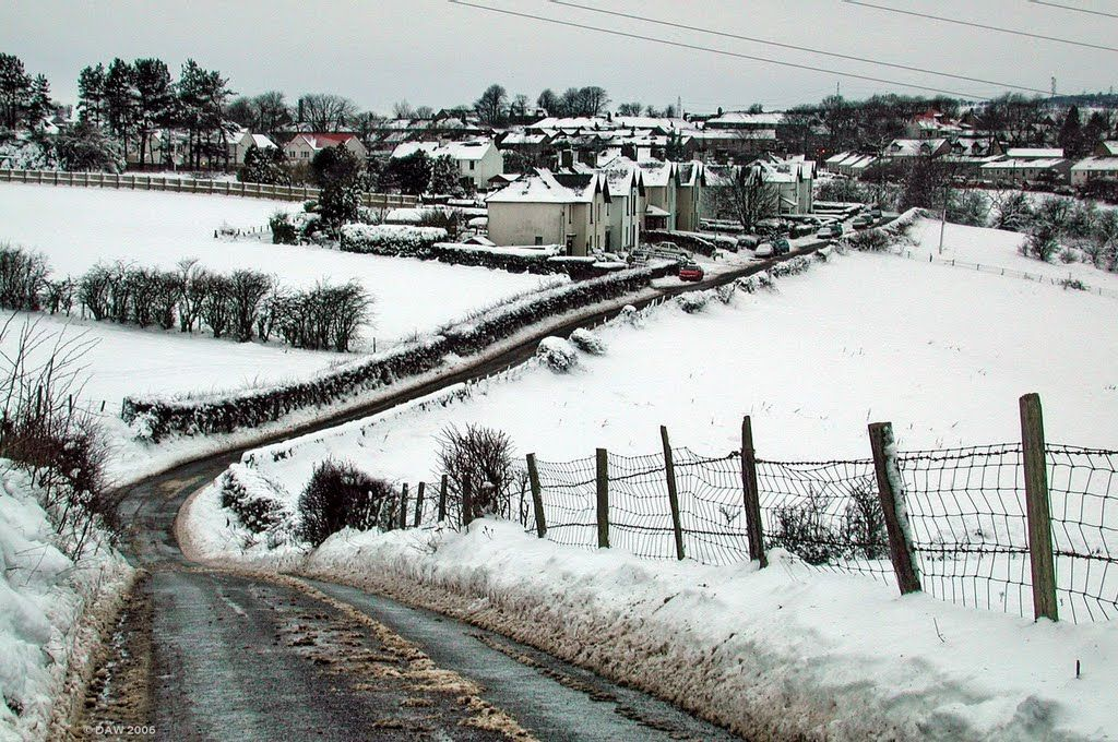 The back road from Springhill leading into Neilston down the