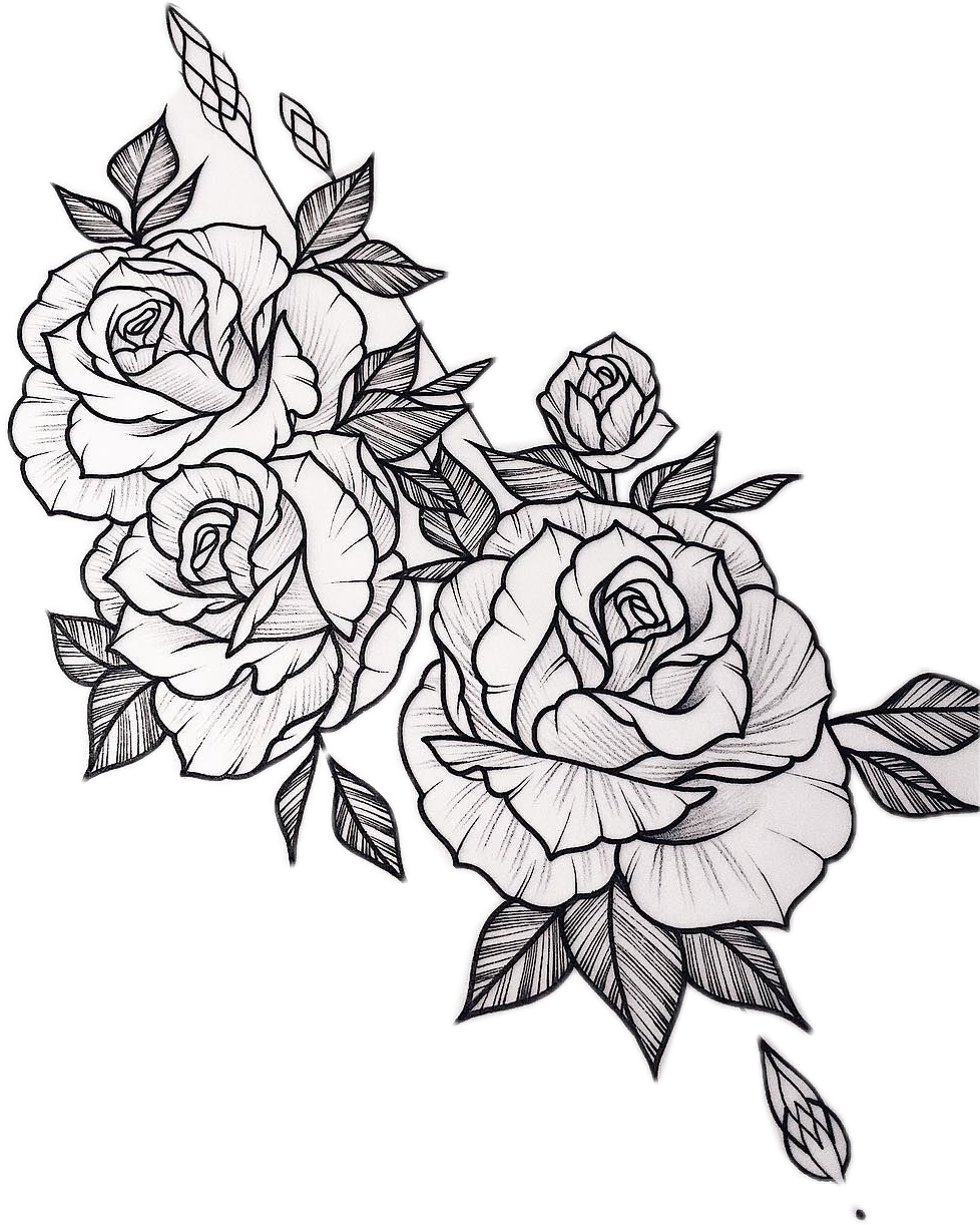 Simple Rose Tattoo Outline: #sctattoo#konkurs #photography #tattoo #photo #rose