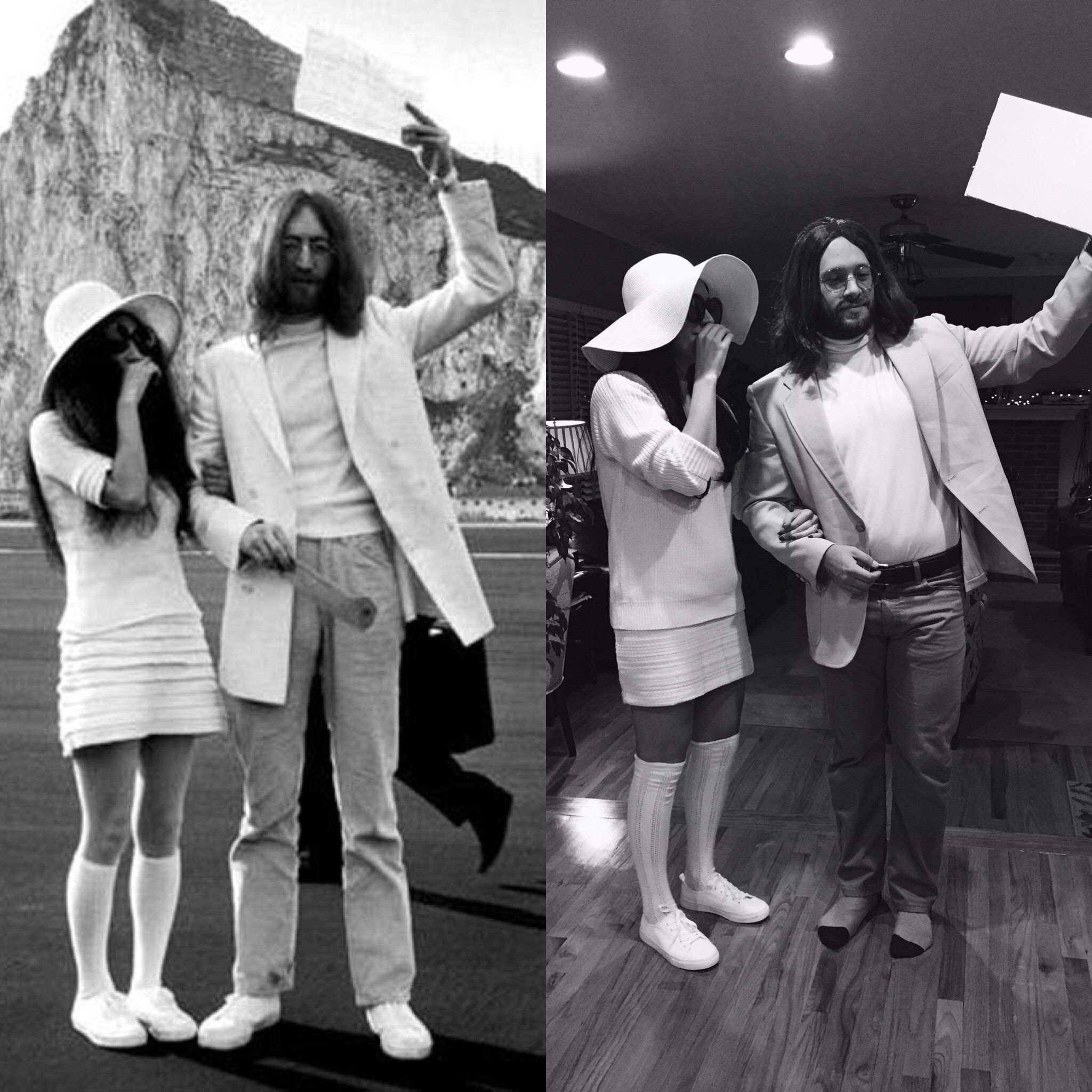 Diy John Lennon And Yoko Ono Halloween Costume John Lennon Yoko Ono Couples Costumes John Lennon And Yoko