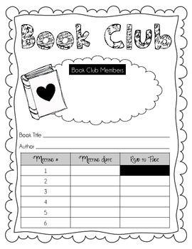 Book Club Planning Sheet Agendas And Question Sheet For Students Kids Book Club Book Club Books Literature Circles