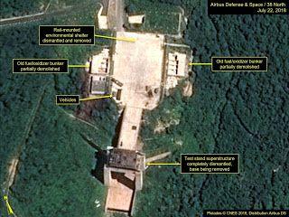 North Korea 'dismantling missile site' satellite images indicate