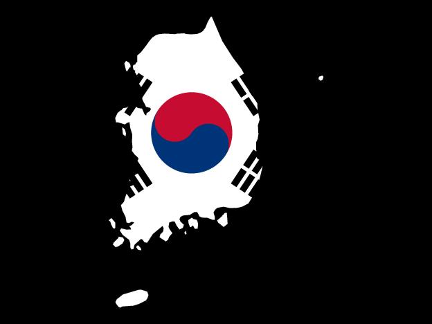 Flag Map Of South Korea Free Vector Maps Korea Map Map Vector South Korea Flag
