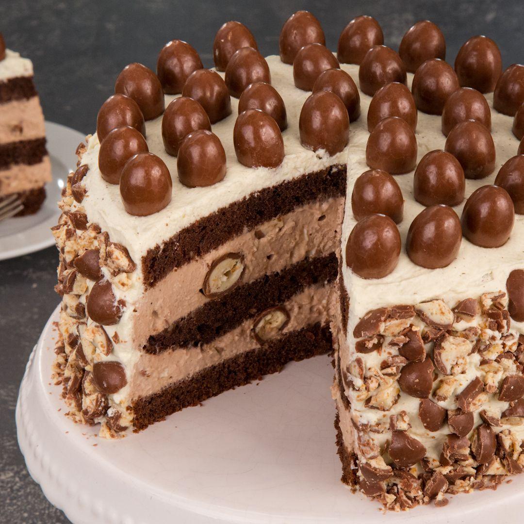 Video Und Rezept Schoko Bon Torte Ein Kochvideo Club Of Cooks Rezept Kuchen Und Torten Schokoriegel Kuchen Schoko Bons