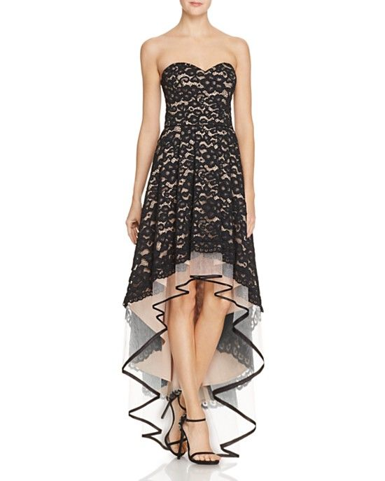 Lace highlow Aidan by Aidan Mattox dress @AidanbyAM | Aidan by Aidan ...