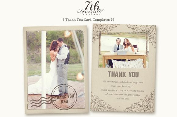 Thank You Card 3 Photo Thank You Cards Thank You Card Template Wedding Cards