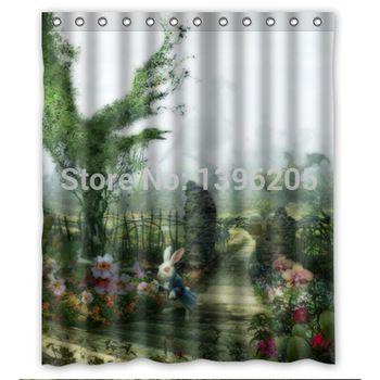 Wonderful Alice In Wonderland Shower Curtain Excellent Workmanship
