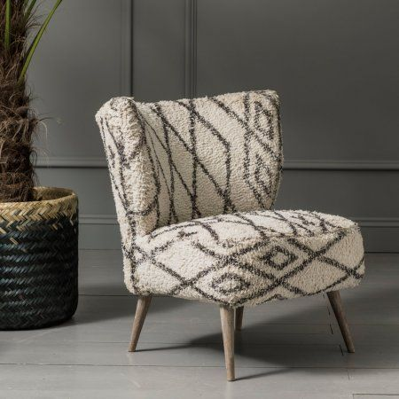Mina Printed Chair Conservatory Chair Woven Chair