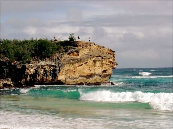 At Shipwreck Beach Kauai Hawaii I Jumped Off This And It Hurt Really Bad But Was Awesome