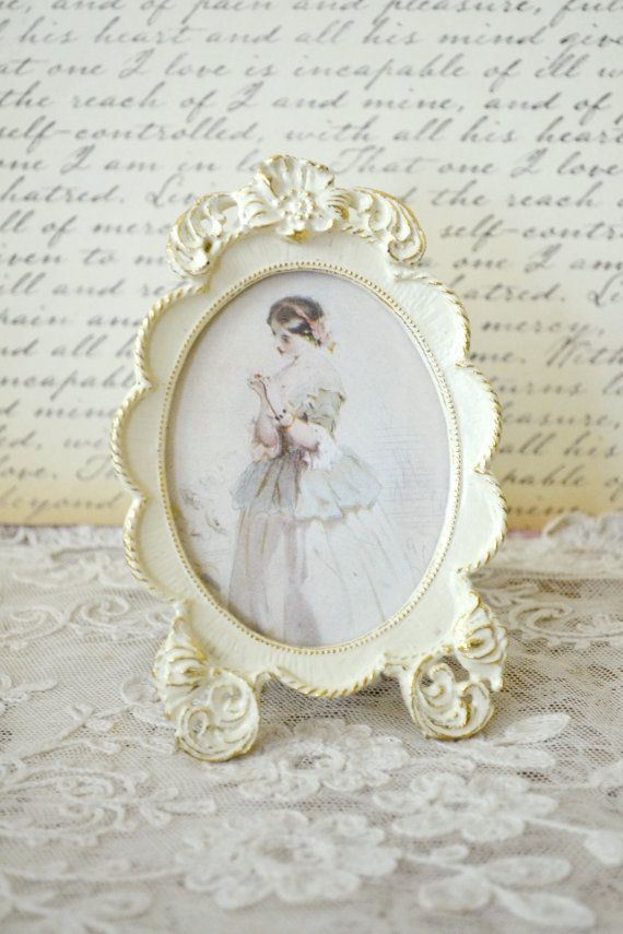 Beautiful Vintage Shabby Chic Frame with Antique by Jenneliserose ...