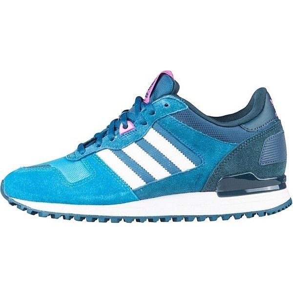 102f8d8a6 Women s Adidas ZX 700 Leather Running Sneakers Dark... ❤ liked on Polyvore  featuring shoes