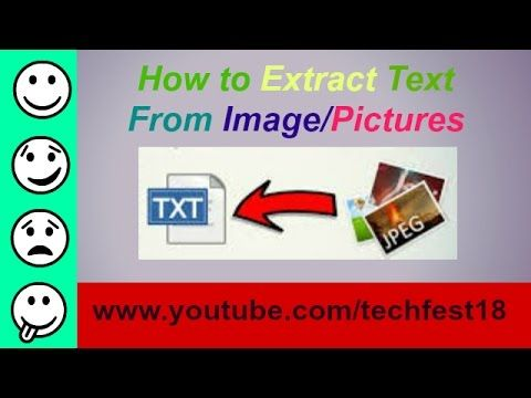 How To Extract Text From A Image/pictures