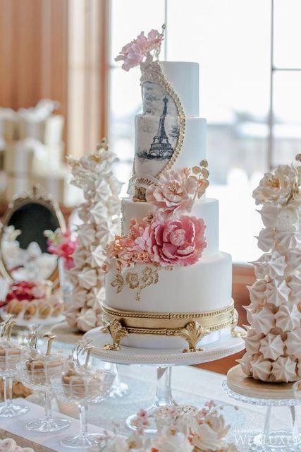 22 Chic Parisian Themed Bridal Shower Ideas White Wedding