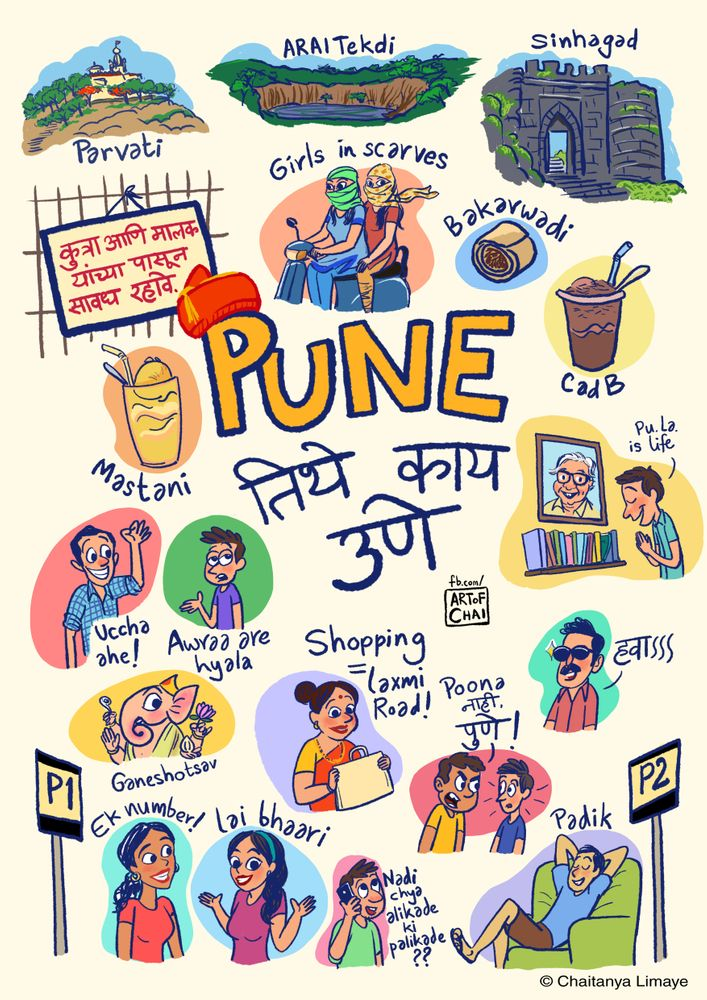City Of Pune Art Print By Chaitanya Limaye X Small In 2020 Vintage Poster Design Art Doodle Art Journals