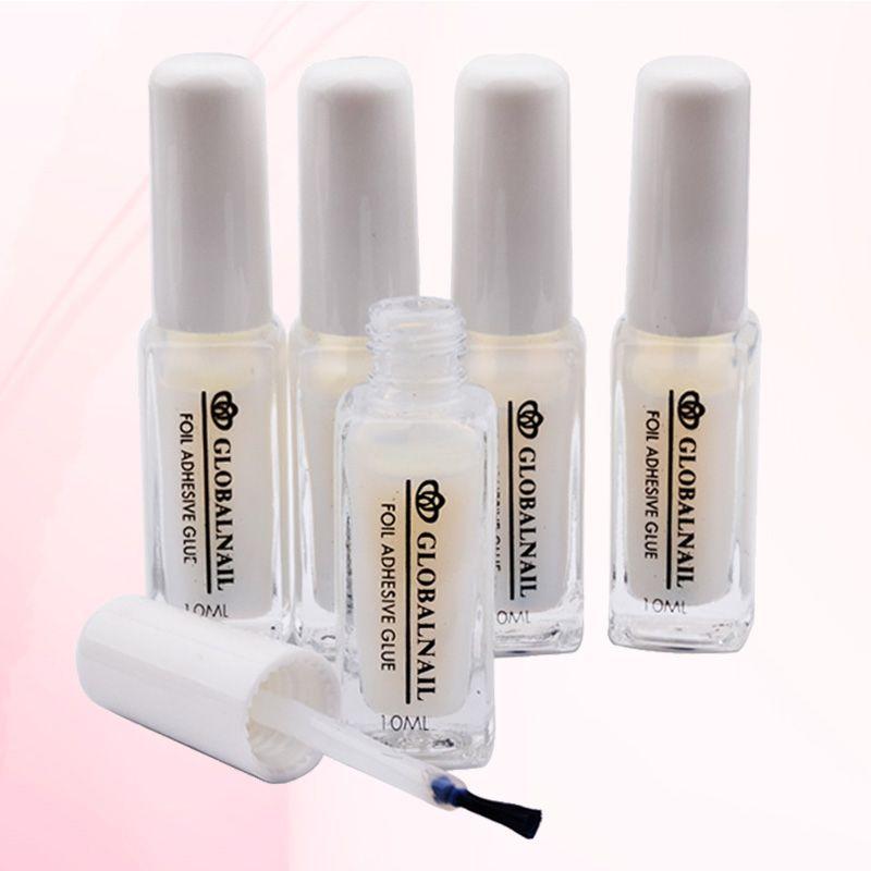 Promo 10ml Pro Non Toxic White Nail Art Glue For Foil Sticker Nail