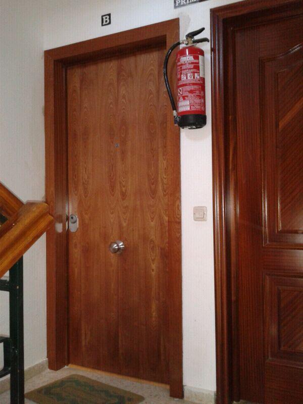 Blindada modelo lisa sapelly rameado puertas blindadas for Ver modelos de puertas de madera