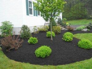 Pin By Lisa K On Mulch Mulch Landscaping Backyard Landscaping Designs Landscaping With Rocks