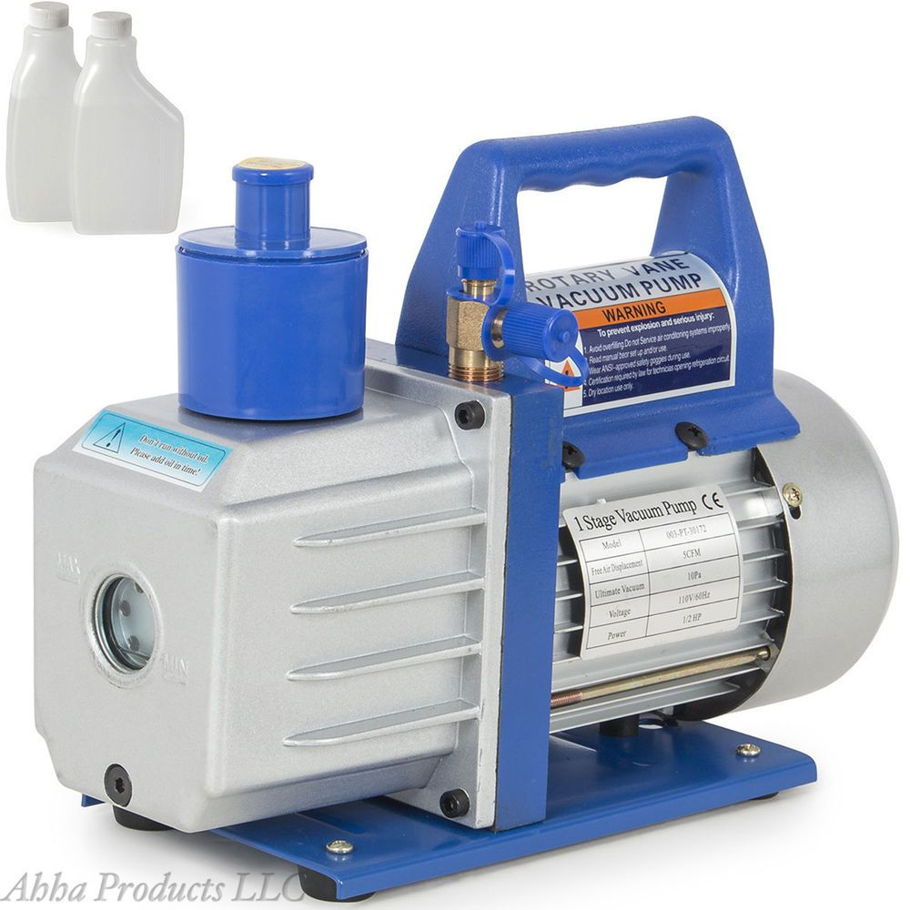 Heavy Duty 1/2HP 1 Stage Rotary Motor Vane Vacuum HVAC Air