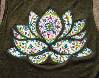 Lotus Flower Applique Etsy Flower Applique Applique