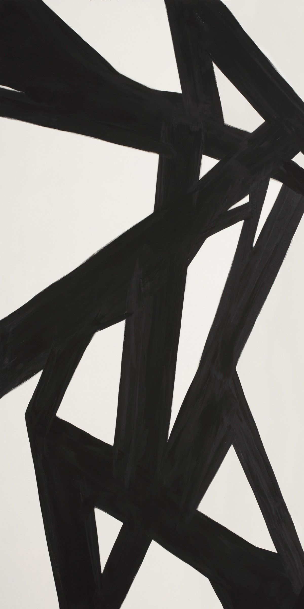 Black & White Abstract Painting, Panel 1 | Modernist ...  Black & White A...