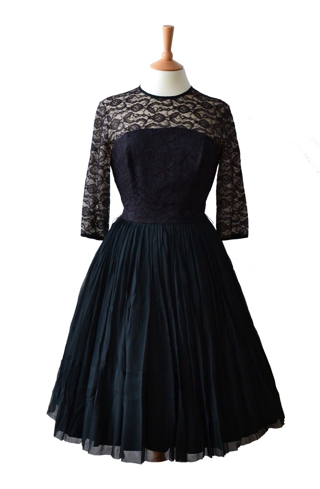 50s Style Cocktail Dress Black