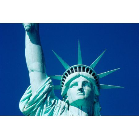 USA New York Statue of Liberty Canvas Art - Panoramic Images (18 x 24)