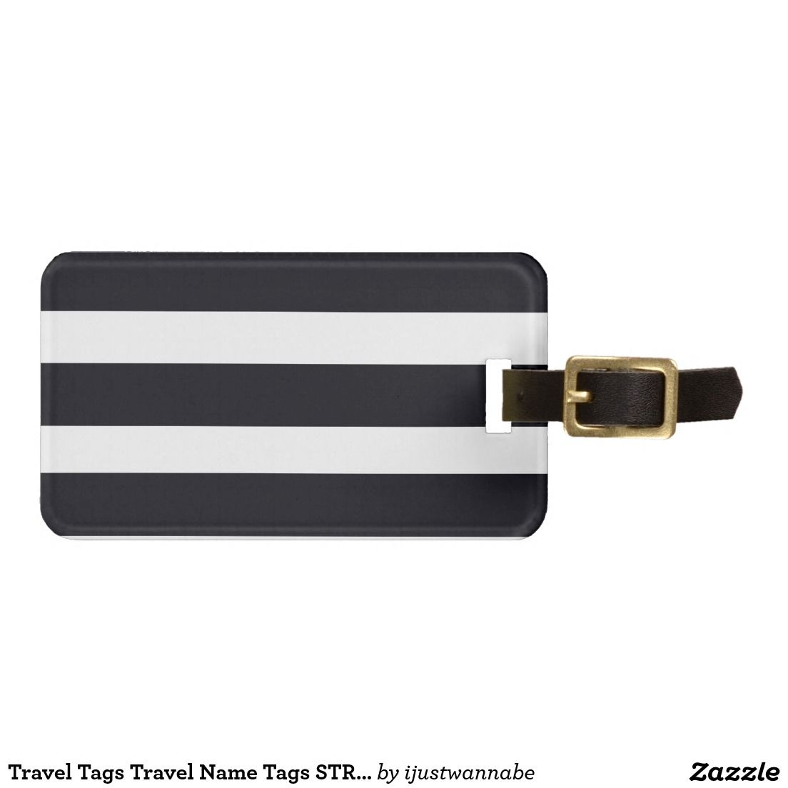 Travel Tags Travel Name Tags STRIPES RED Back Travel Luggage Name - Travel name tag template