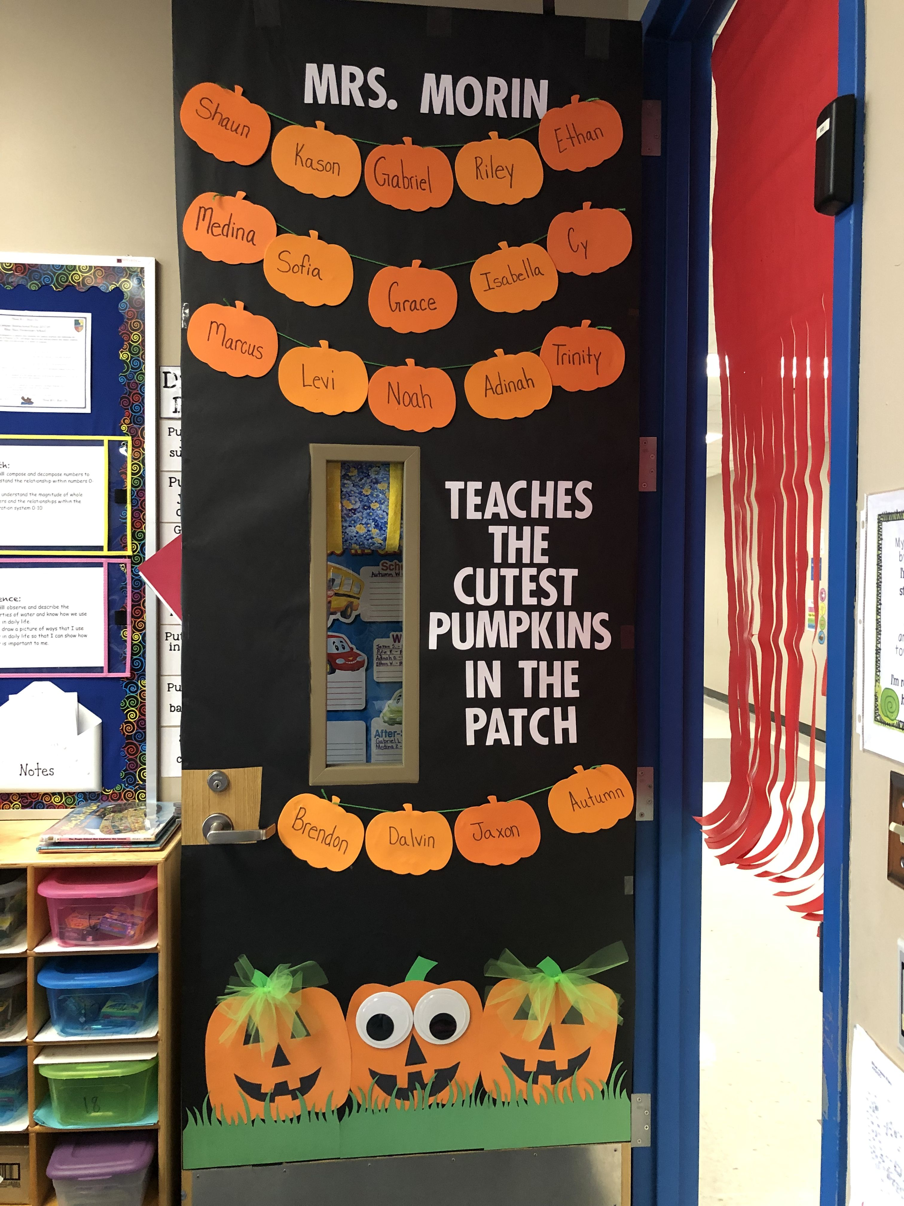 Halloween Fall Classroom Door Decoration Halloween Classroom Door Decor Halloween Door Decorations Classroom Halloween Classroom Door