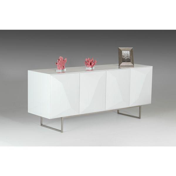 Modrest Vanguard Modern White Buffet