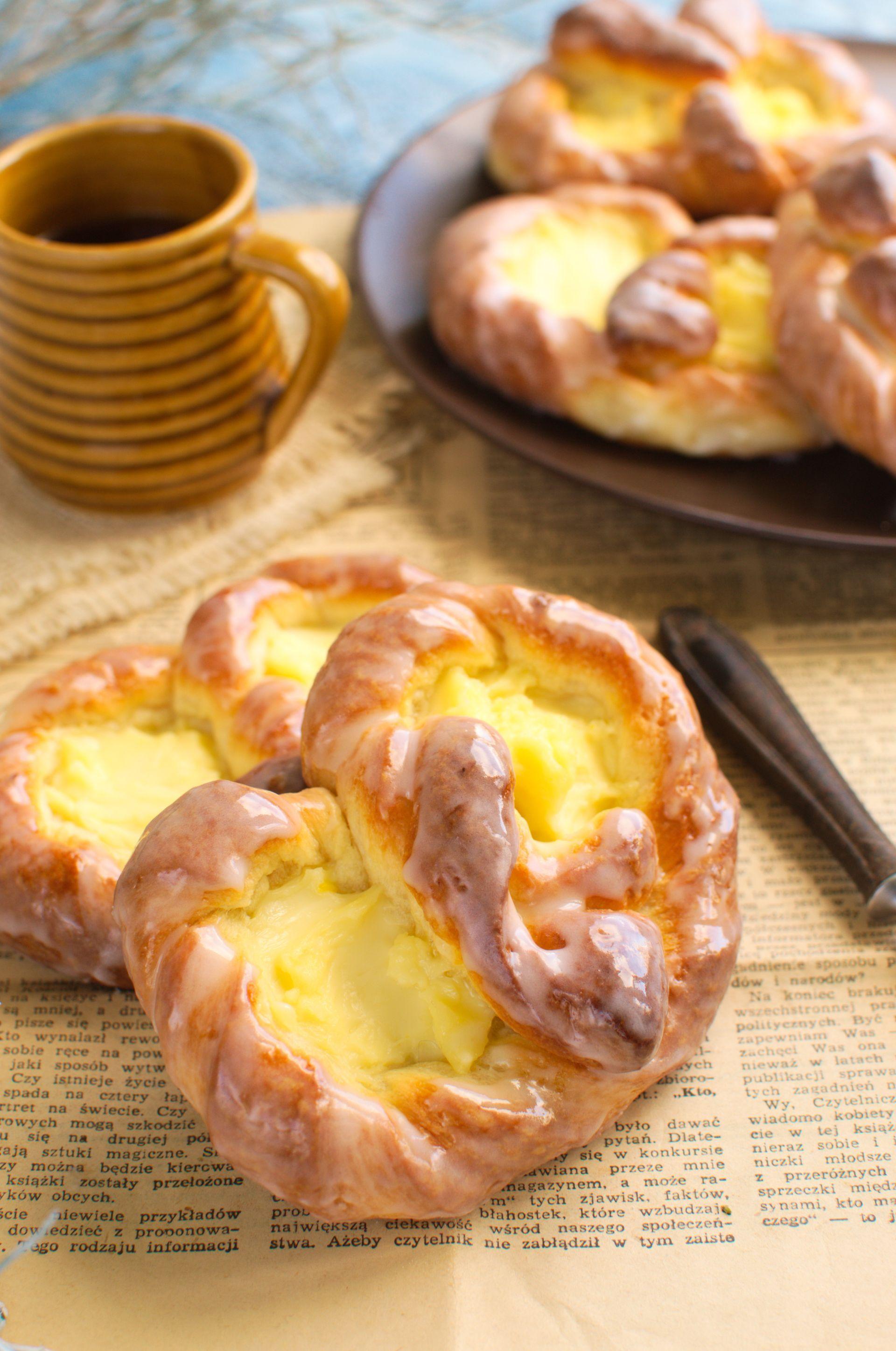 Niemieckie Precle Z Budyniem Cooking Recipes Breakfast Treats Dessert Recipes