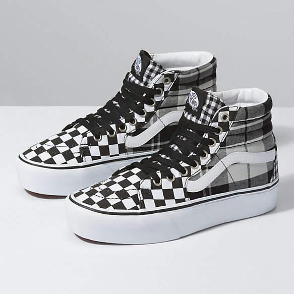 NEW Vans Sk8 Hi Decon Party Checker Board Checkerboard shoe classic womens size   eBay
