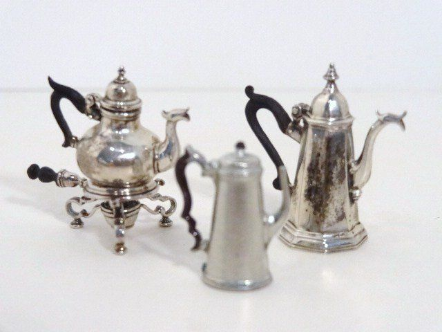 IGMA Mini Peter Acquisto Sterling Silver Silent Butler 1:12 Dollhouse Miniatures