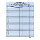 """Patients Sign In 8-1/2"""" X 11"""" (Blue) Carbonless Form (Lot of 25 Sheets) HIPAA Compliant."""