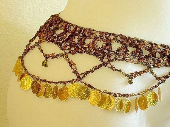 Crochet Hip Scarves Patterns Belly Dance Pinterest Scarf