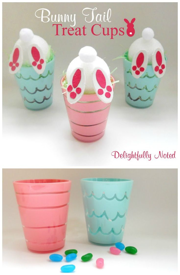 Easter Craft: Bunny Tail Treat Cups | Easter, Bunny and Crafts