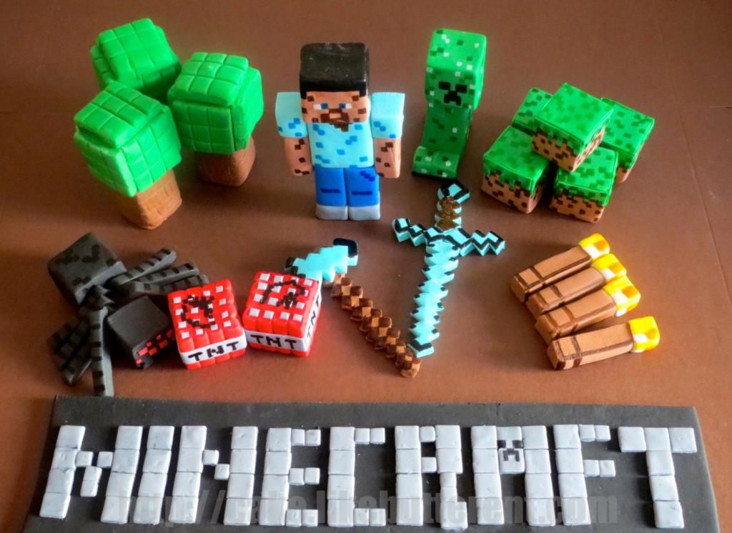 Fondant Minecraft Cake Toppers By Like Er Wow We D Happily Get These